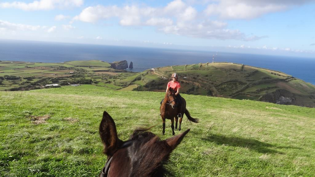 horse riding in the azores