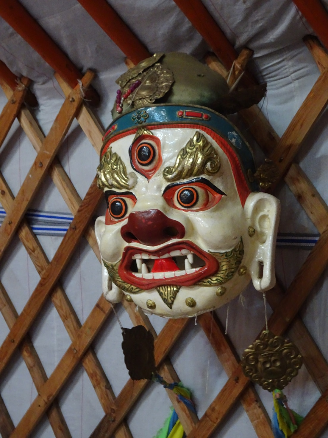 traditional mask in mongolia
