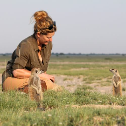 The Kalahari Riding Safari in the Makgadikgadi salt pans of Botswana. Meerkats.