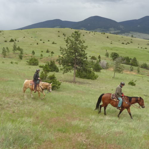 Riding across 25,000 acres of ranch lands