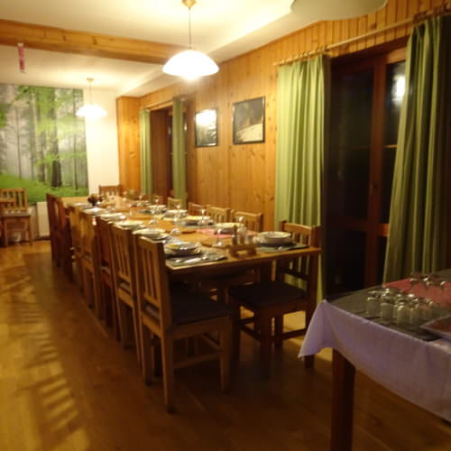 Dining room. Winter Riding Holidays with In The Saddle. Equus Silvania.