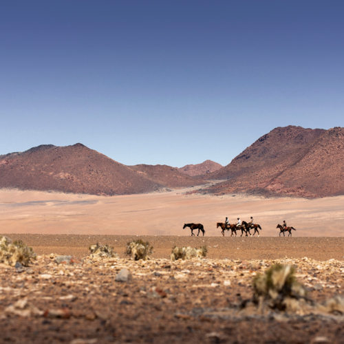 Horse riding in Namibia