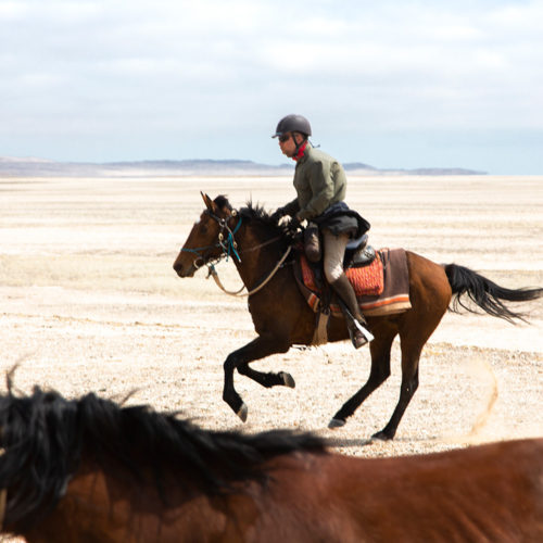 Ride in Namibia