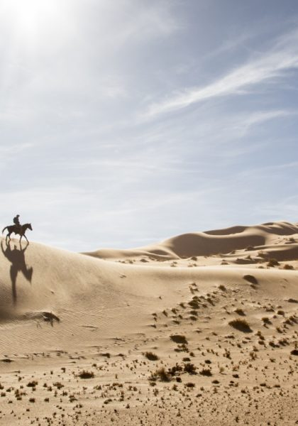 Riding in Namibia