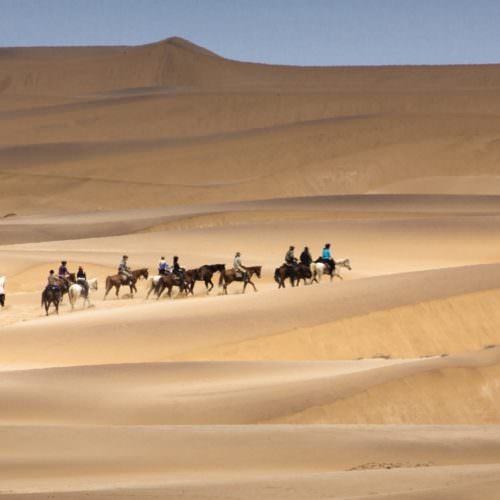 Crossing the Namib Desert on horseback