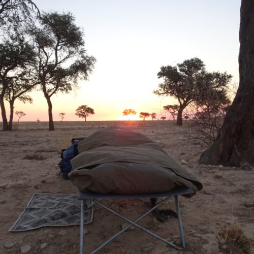 Sleep under the stars Namibia