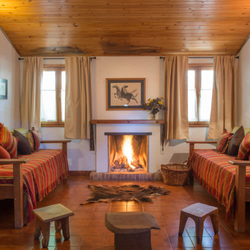 Log fire in Argentina.