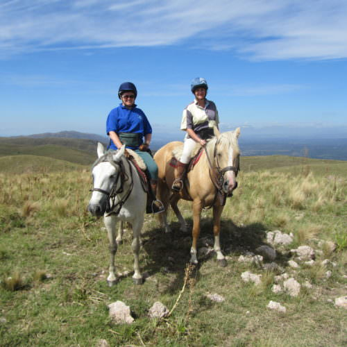 Horse Riding through beautiful scenery in Argentina.