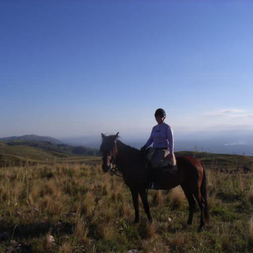 Beautiful views. Horse riding in Argentina.