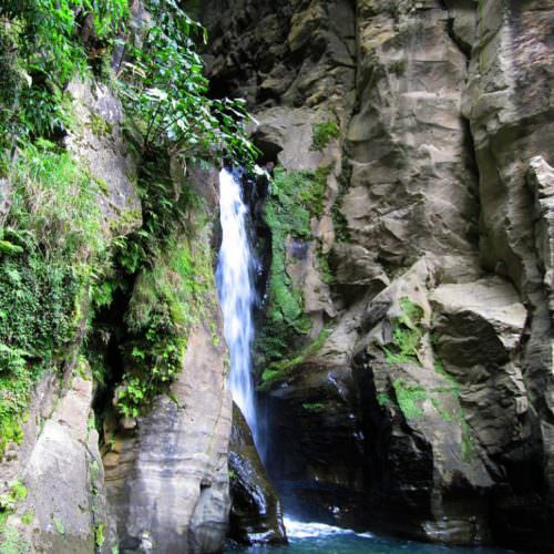 Azores. Waterfall