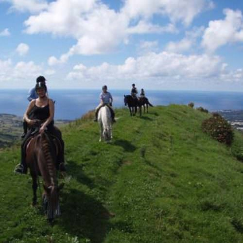 Horses on the Green Island Trail - Riding Holidays on the Azores.