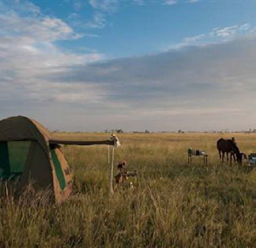 The Kalahari Riding Safari in the Makgadikgadi salt pans of Botswana. Camping.