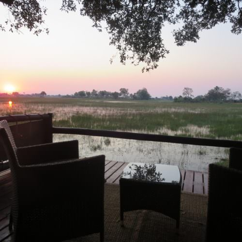 Kujwana riding safari exploring the western region of Botswana's Okavango Delta. Tented camp.