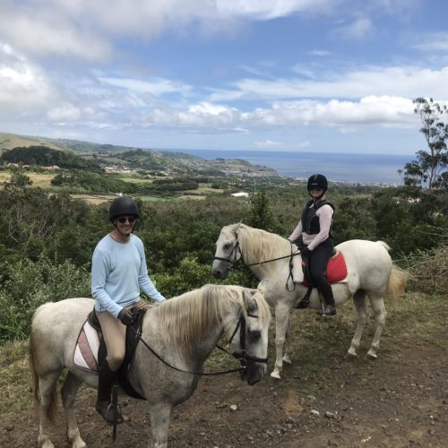Learn to Ride Holidays on the Azores. Sea views on horseback