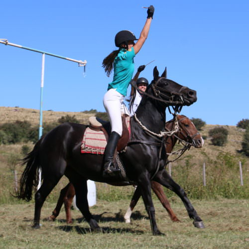 Sortija. Gaucho Games in Argentina. Horse riding fun at Los Potreros.