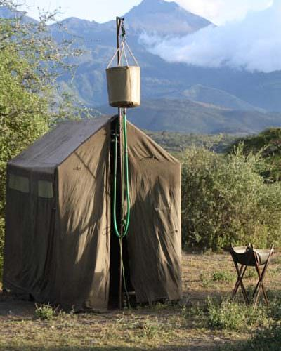 Kaskazi loo and shower tent