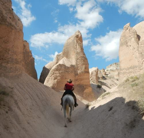 Camping and hotel based horse riding holidays in Turkey. Fairy Chimneys