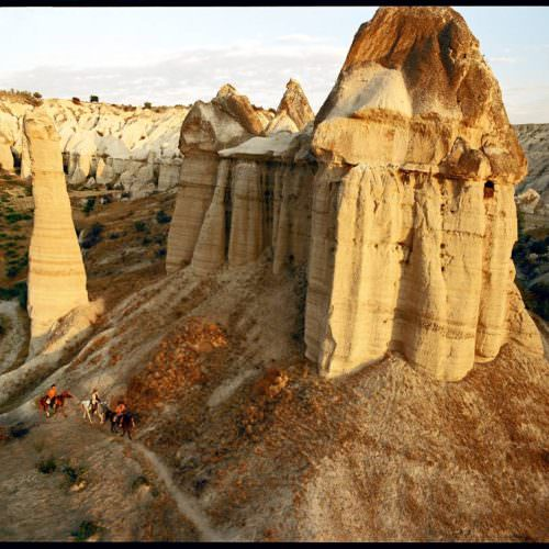 Camping and hotel based horse riding holidays in Turkey. Fairy chimneys.
