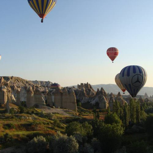 Camping and hotel based horse riding holidays in Turkey. Hot air balloons through Fairy Chimneys