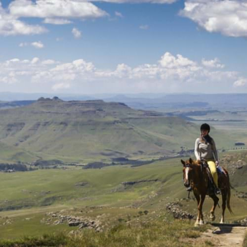Riding in Lesotho