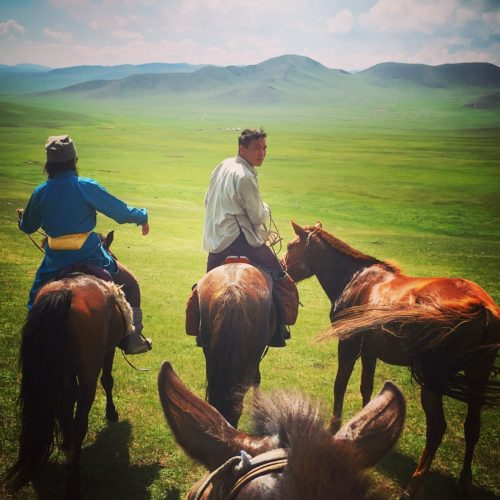 Riding in Mongolia