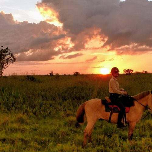 Riding on Marajo Island in the Amazon Delta