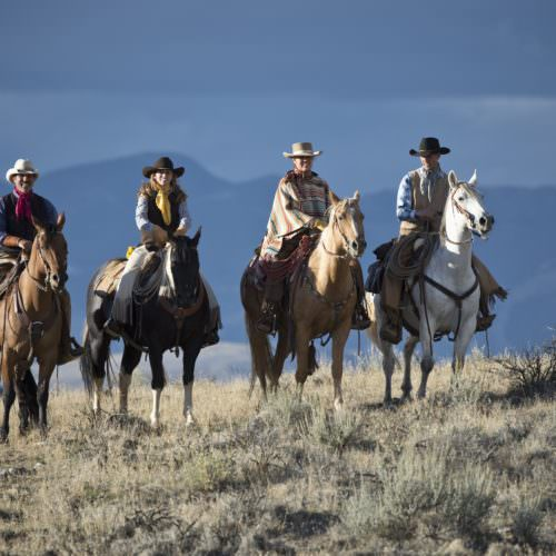 Riding into High Country Hideout Working cattle ranch vacations. Ranch holidays with In The Saddle.