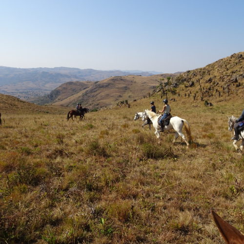Riding in the mountains of Swaziland