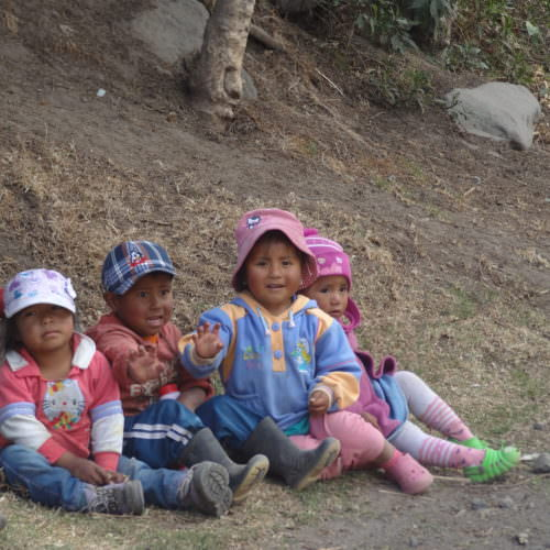 Smiling children, Ecuador