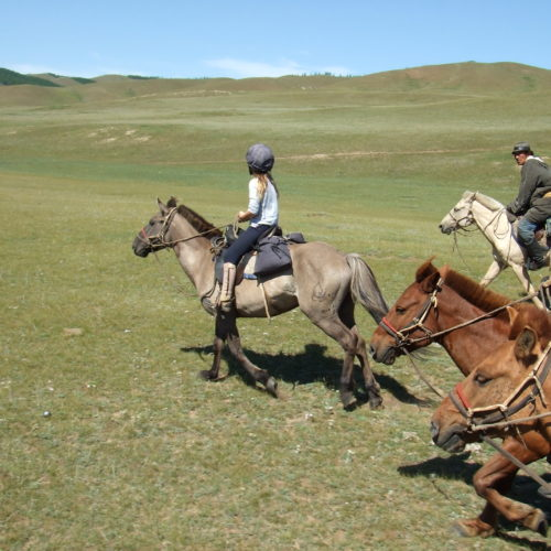 Mongolia canter riding