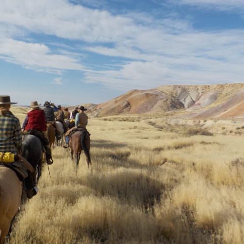 Trail ride from the Hideout Ranch