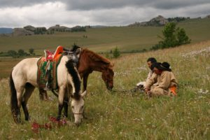 Mongolia steppes nomads