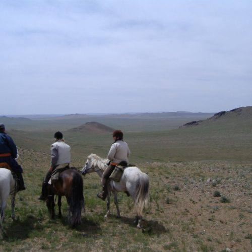 Mongolia steppes view