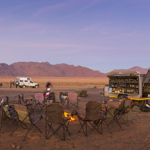 In The Saddle. Namibia - Skeleton Damara Ride. Camping in the desert.