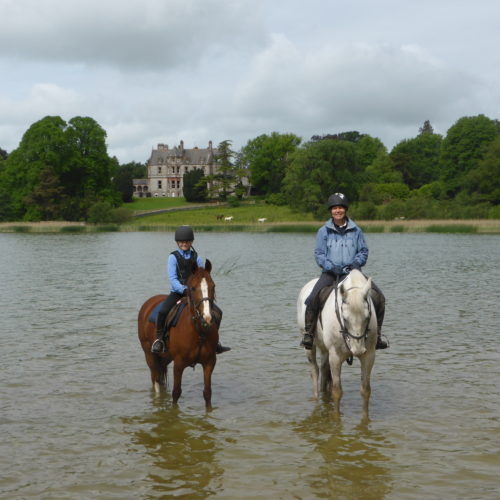 Riding at Castle Leslie lake