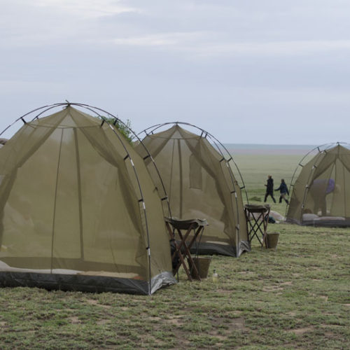 Fly camp in Tanzania