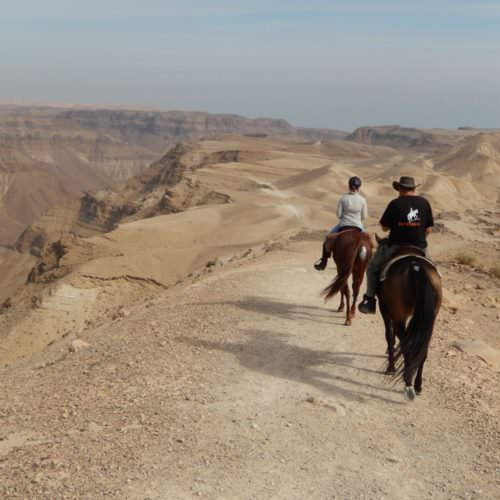 Israel riding in the Judean Desert