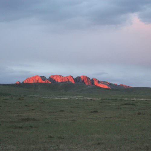 Mongolia sunset