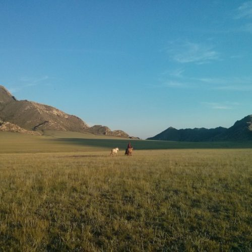 Mongolia riding in hills