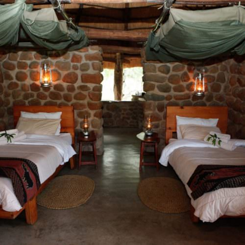 Riding holidays in Swaziland. Safaris in Africa. Accommodation. Typical bedroom.