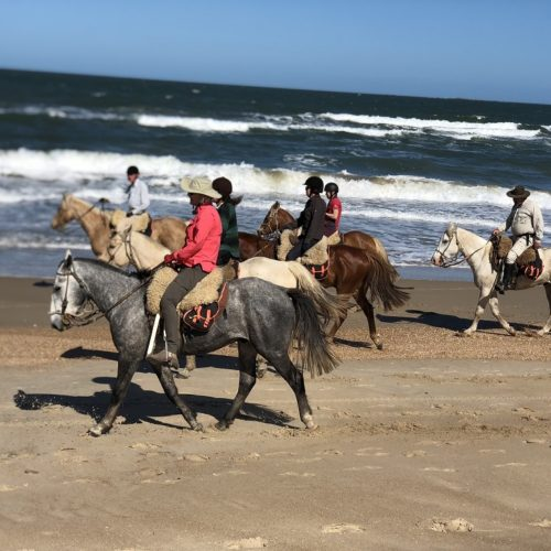 Uruguay beach riding