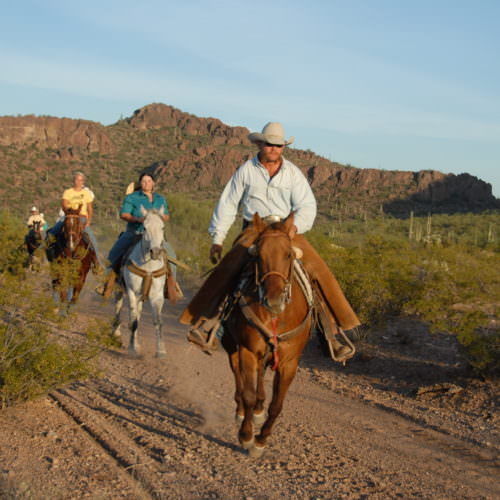 Riding at the Lope in Arizona. Western Ranch Holiday.