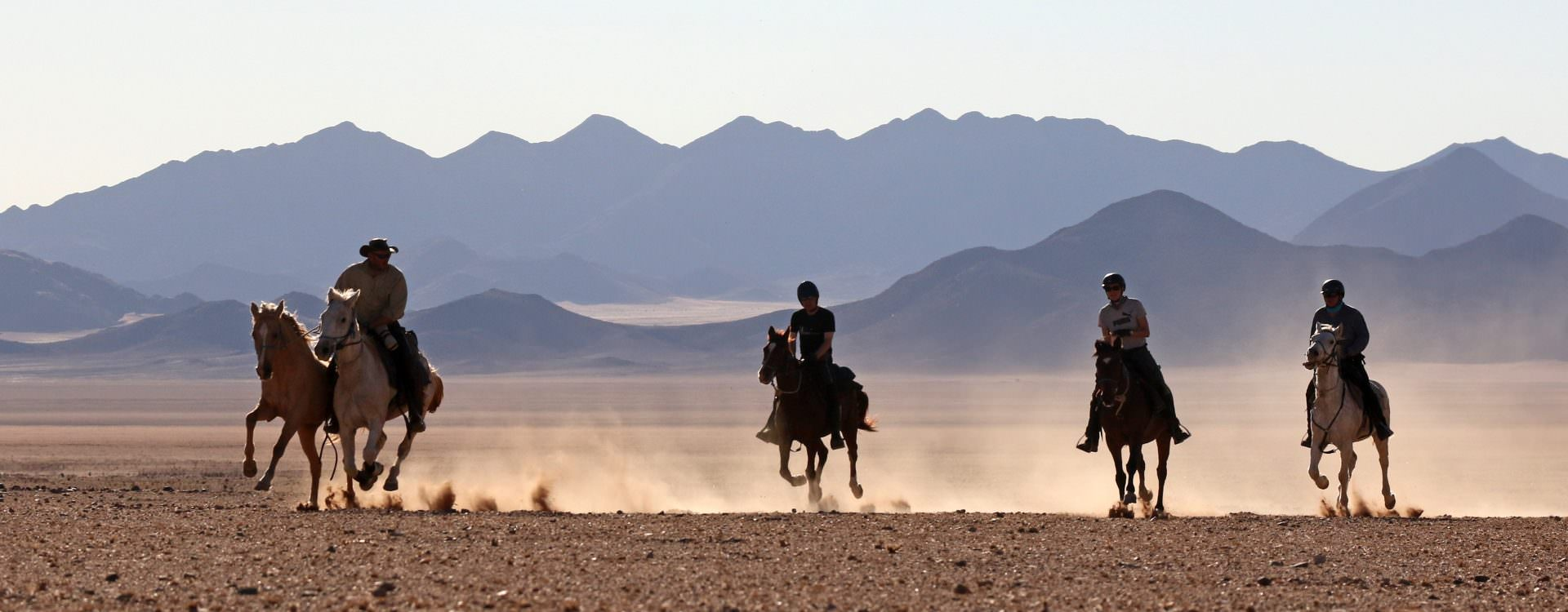 Riding in the Desert Canyons, Namibia