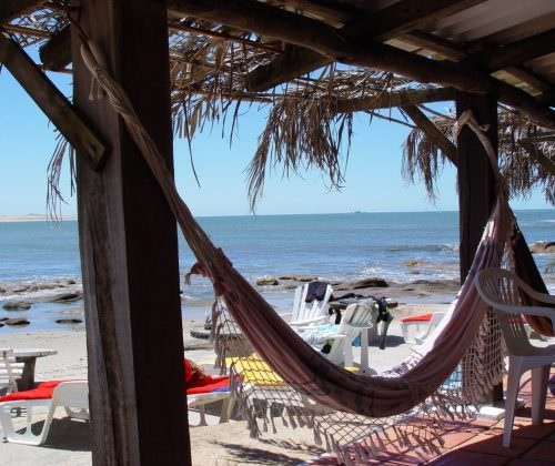 beach hammock. Beach riding holidays in Uruguay with In The Saddle.