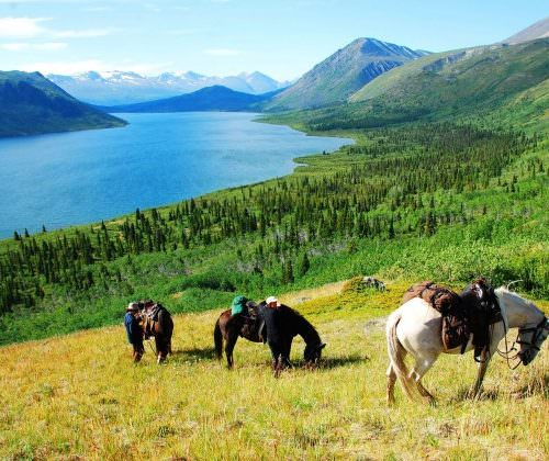 Riding holiday expedition in the Yukon, Canada.
