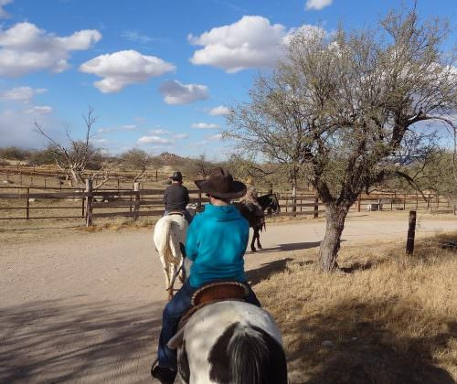 Heading out on a ride from Tombstone Monument Ranch