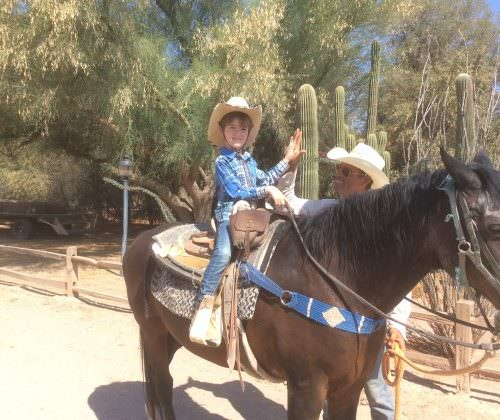 Guests - Christina & Jacob on a western ranch holiday with In The Saddle