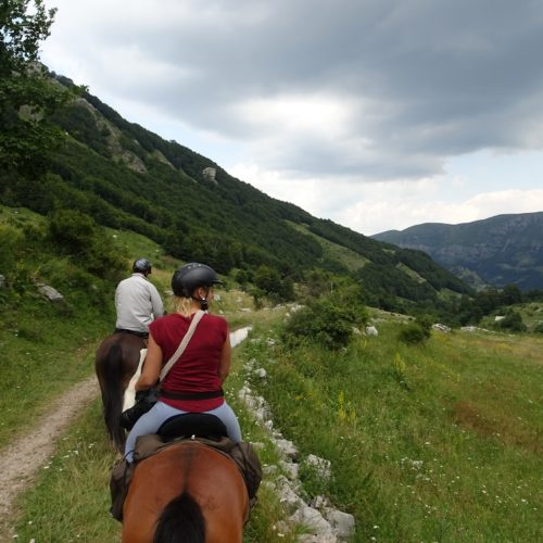 Horse riders in the hills