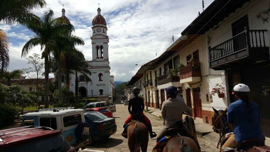 Riding to Cabrera in Colombia