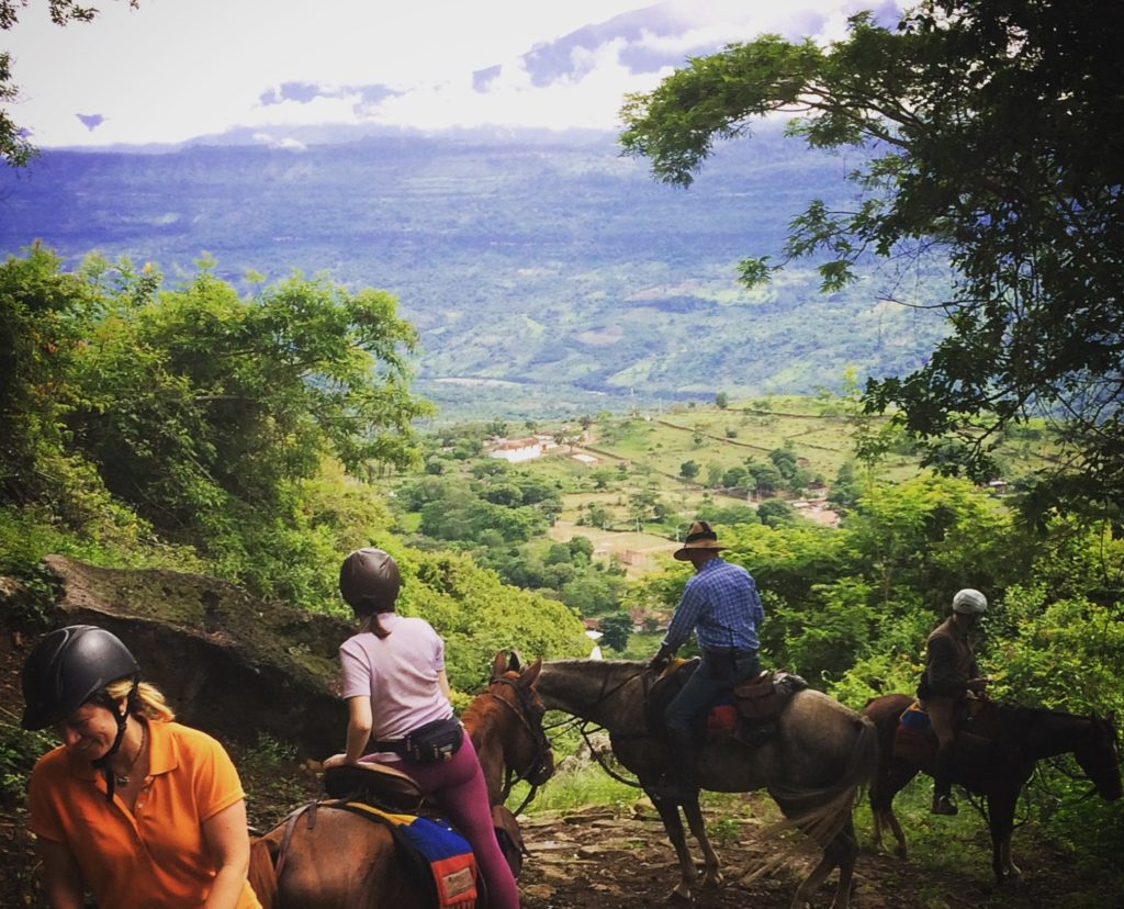 Horse riding in Colombia